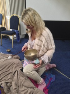 sonic massage with tibetan bowl